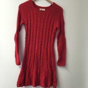Hollister Red sweater dress size medium